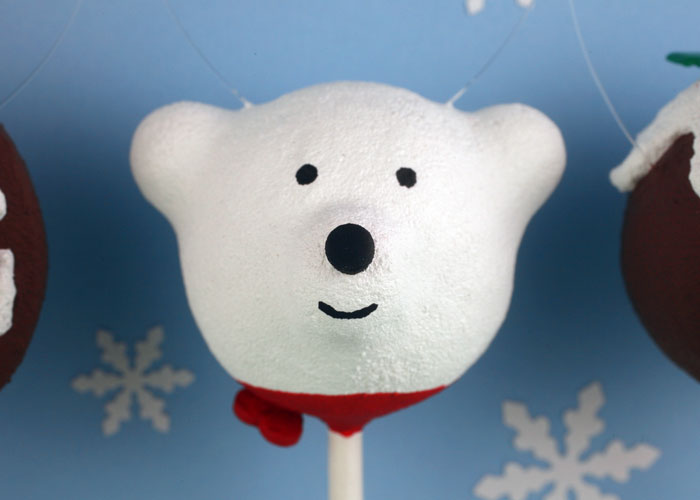 Polar Bear Cake Pop Ornament