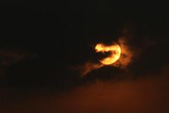[フリー画像素材] 自然風景, 空, 雲, 朝焼け・夕焼け, 暗雲, 太陽 ID:201212160600