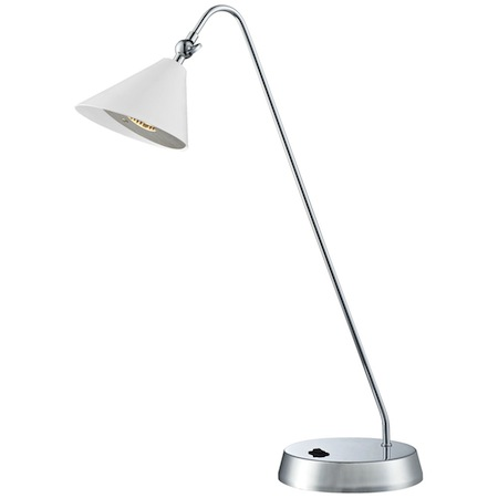 Euro Style Lighting_Cape White and Chrome Desk Lamp