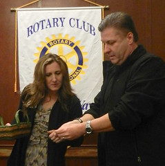 Federal Way VP Jodi Glandon with Brian Stampfl, guest speaker about CSI