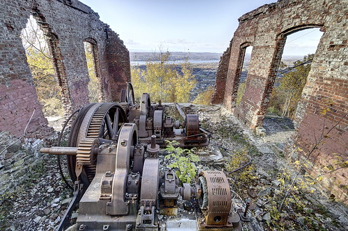 newyork abandoned electric ruins brock motor hdr funicular niceview steepclimb mountbeaconinclinerailway