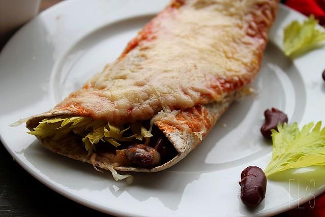 "Enchiladas au chili ""sin"" carne {végétarien}"