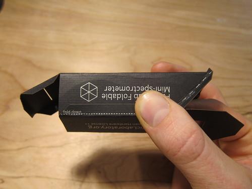 mini fold-up spectrometer assembly