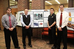 Jackhammer Impact Test Rig Team with poster
