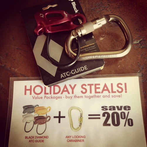 Black Diamond ATC Guide and locking carabiner deal