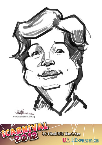 digital live caricature for iCarnival 2012  (IDA) - Day 1 - 20