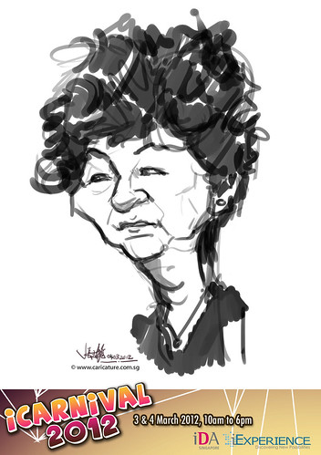digital live caricature for iCarnival 2012  (IDA) - Day 2 - 39