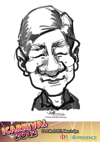 digital live caricature for iCarnival 2012  (IDA) - Day 1 - 69