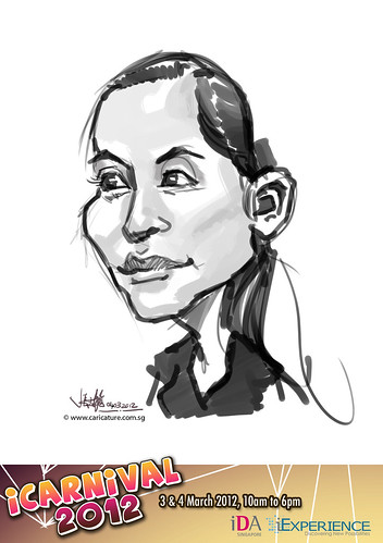 digital live caricature for iCarnival 2012  (IDA) - Day 2 - 78