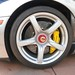 Porsche Carrera GT in GT Silver Metallic in Beverly Hills California front center lock wheel