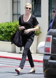 Charlize Theron Studded Loafers Celebrity Style Women's Fashion