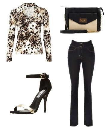 Animal Print Top with Jeans