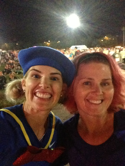 @according2kelly and @angryjulie pre-Disney's Wine and Dine Half Marathon