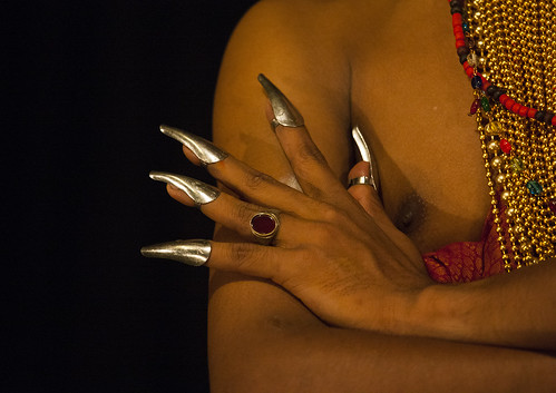 Extented Finger Nails Of A Kathakali Dancer, Kochi, India