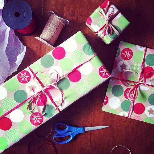 Call me crazy, but I absolutely love wrapping gifts.