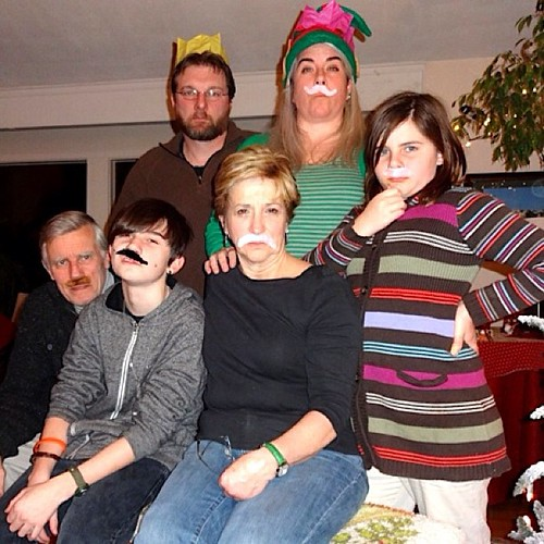 Merry Stachemas from our family to yours. (We're hoping Santa is bringing razors.) #xmas