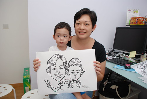 caricature live sketching for birthday party 10032012 - 5