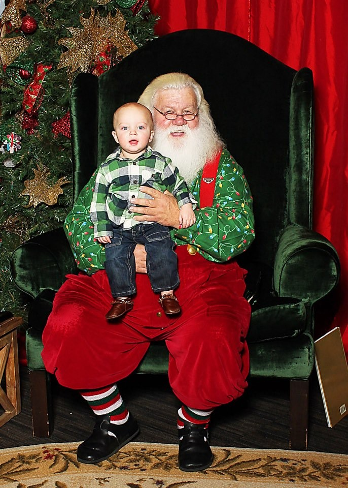 Andrew with Santa 1
