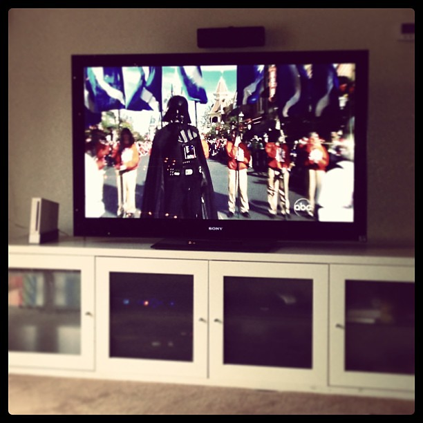 #DisneyParade featuring my homeboy Darth Vader!