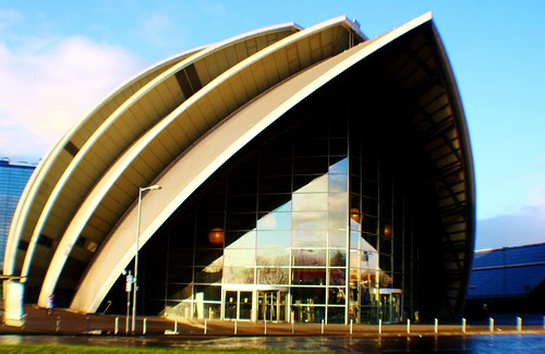 Clyde Auditorium or 'Armadillo', Glasgow, Scotland
