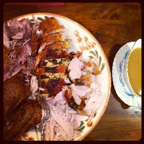 Roast turkey at #Christmas dinner. #food
