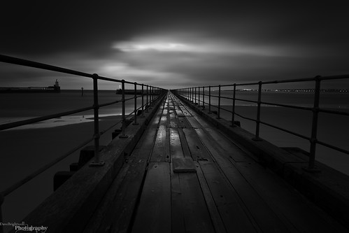 Light Over The Pier by Dave Brightwell
