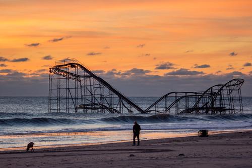 nj rollercoaster jetstar seasideheights sunrisemorning