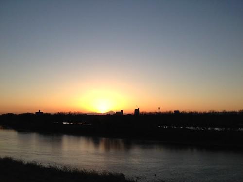 江戸川からの日の入り by ninomiya