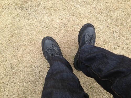 ダナーライトとリーバイスのジーンズ