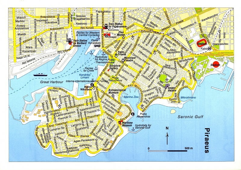 Greece Piraeus Map Street Map Of Piraeus Roger Smith Flickr
