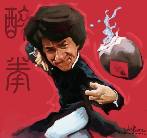 digital caricature sketch of Jackie Chan Drunken Master - 2
