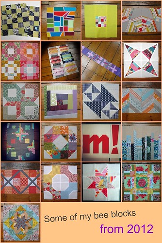 Some of my bee blocks from 2012