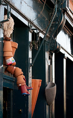 Stacked hanging pots