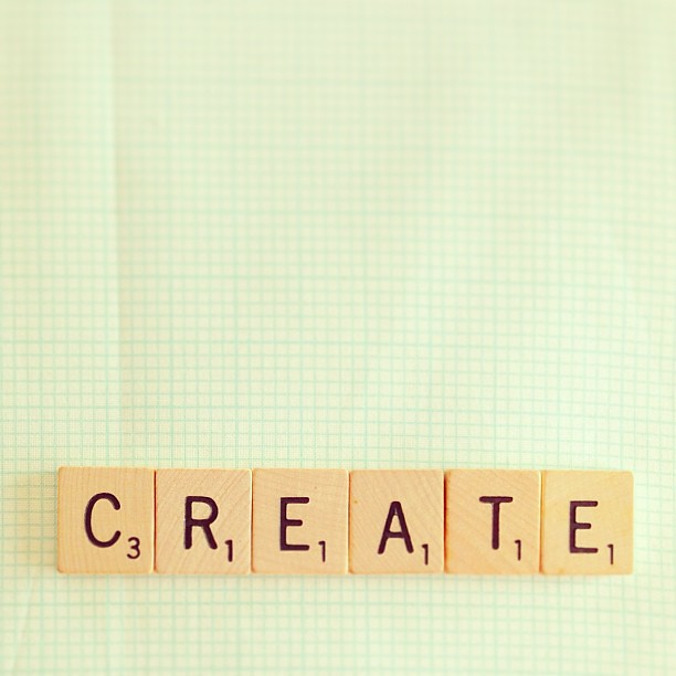 one word challenge 2013 // >>CREATE new memories >>CREATE for others >>CREATE love&happiness >>CREATE success >>CREATE inspiration