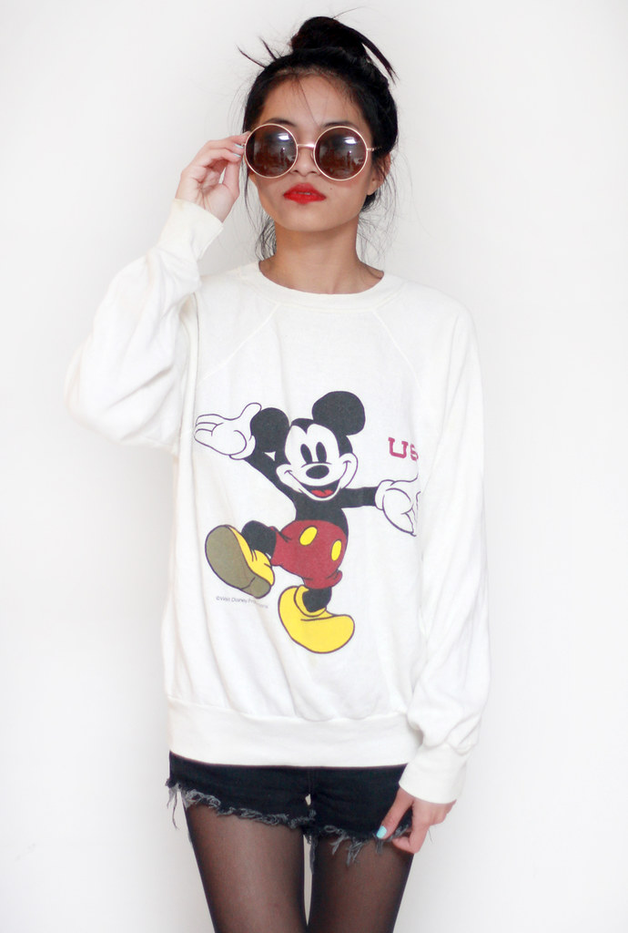 vintage usc mickey mouse sweater by Tarte Vintage at shoptarte.com