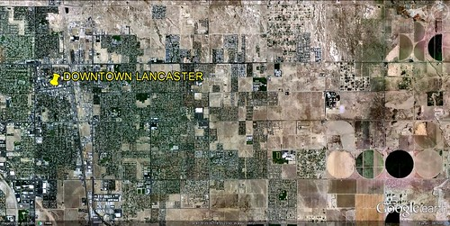 satellite view of Lancaster (via Google Earth)