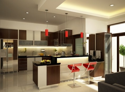 Cocinas Modernas Con Isla Central Arkigrafico