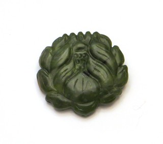 Brooch a Day 3 - Faux Jade Lotus Blossom
