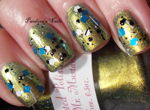 I Love Nail Polish Fully Turqued over Enchanted Polish Mean Mr Mustard 3