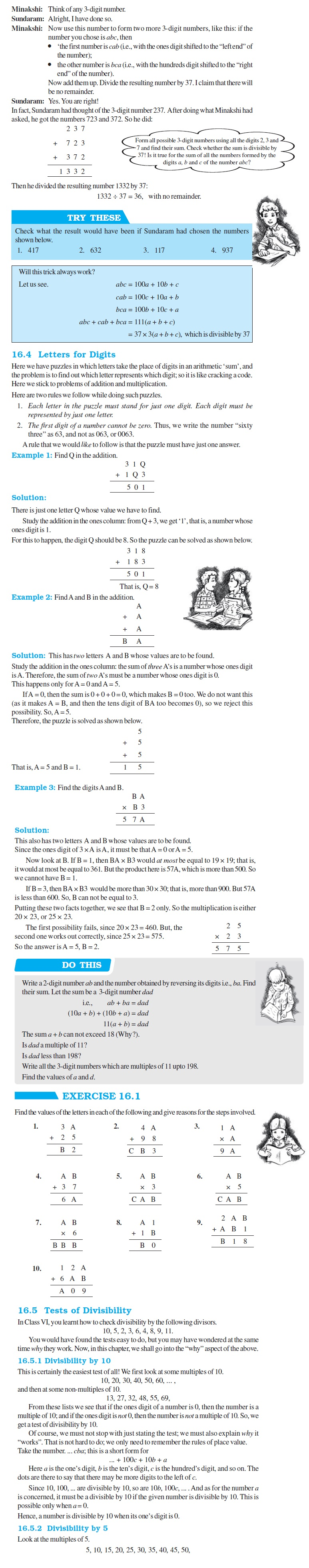 NCERT Class VIII Maths Chapter 16 Playing with Numbers