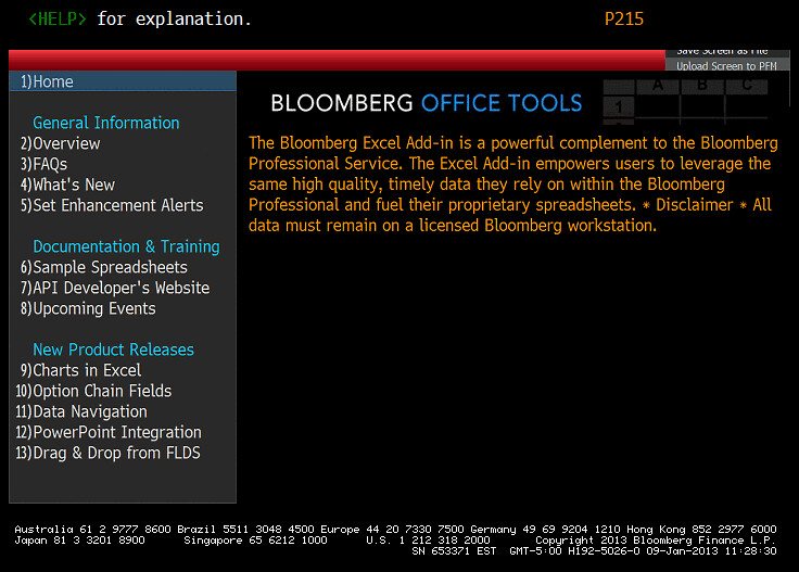 download bloomberg data into excel agsky