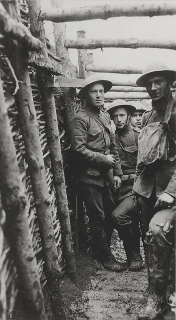 World War I Marines in a Trench, circa 1918