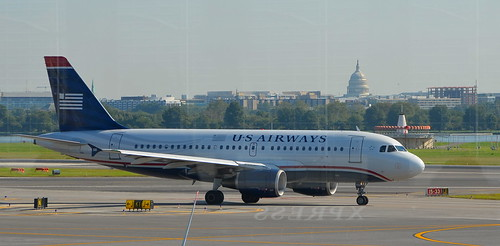 US Airways taxis in the nation's capitol