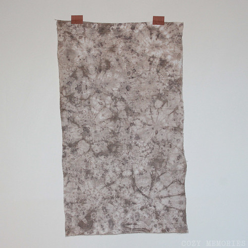 onion tie-dyed linen panel