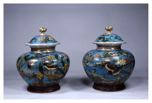 006-Jarrones con tapa- Era Meiji siglo 19-Cortesía del Tokyo National Museum