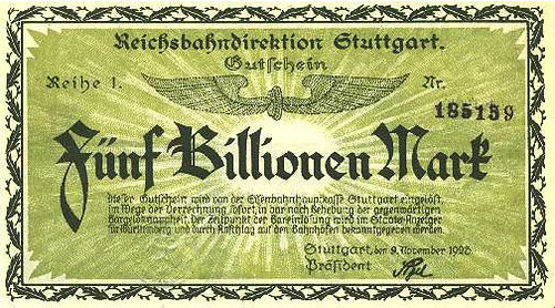 Notgelt 5 billion marks