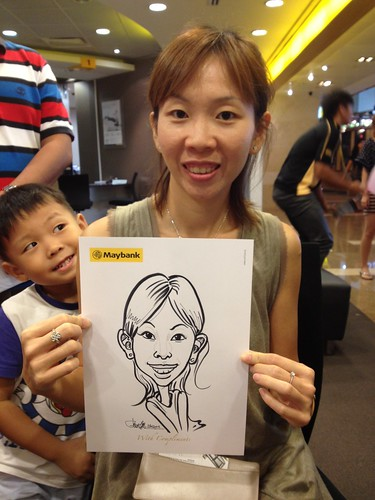 caricature live sketching for Maybank Roadshow - 8