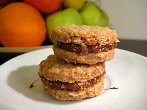 Ovesné sušenky s fíkovou náplní