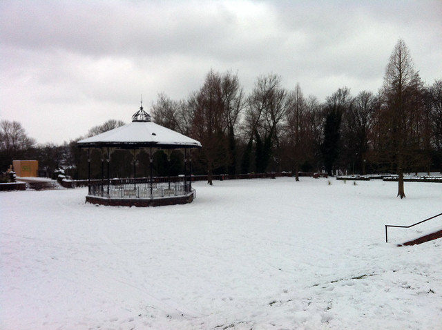 bandstand and white