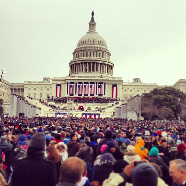 Got our spot! #inaug2013